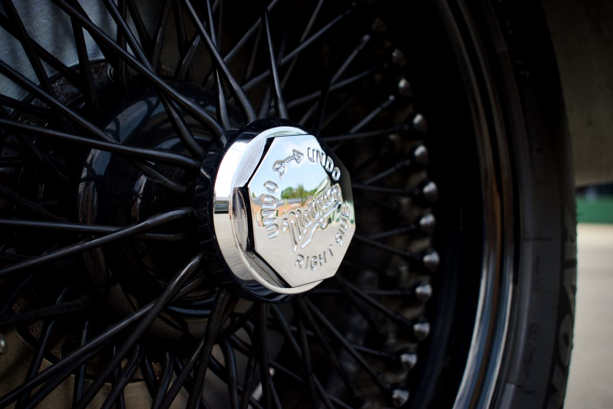 Wire wheels from a Morgan