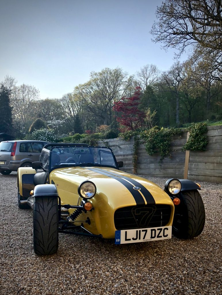 Caterham 270 R in yellow
