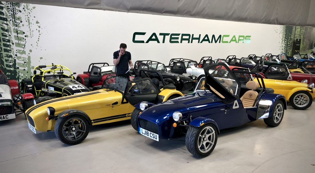 Caterham Cars prepared for driving