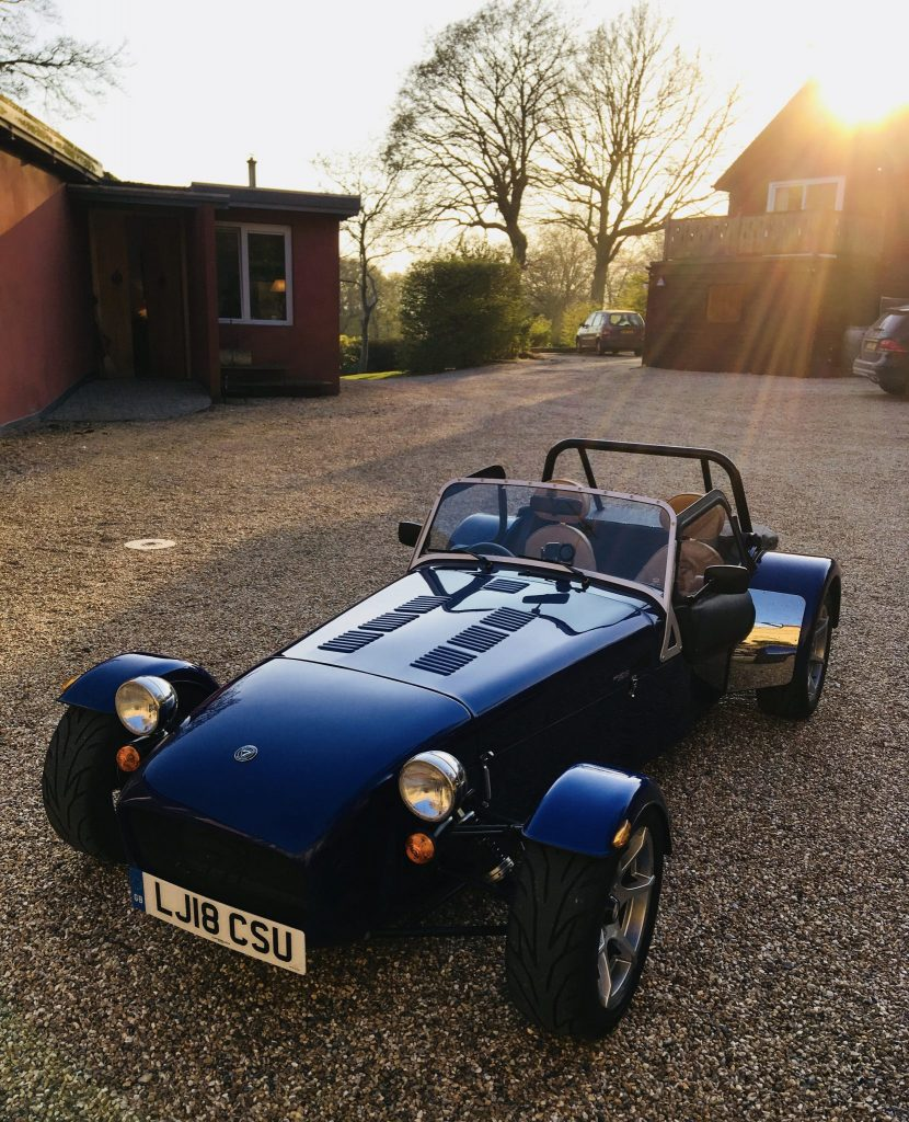 Caterham 270s in blue