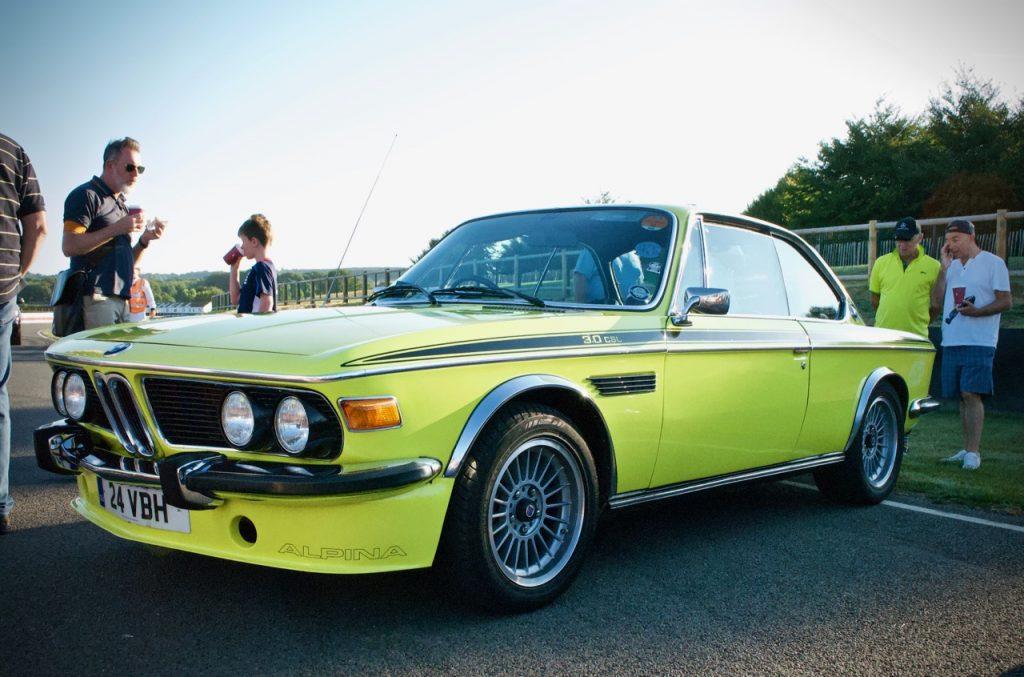BMW CSL at Goodwood circuit