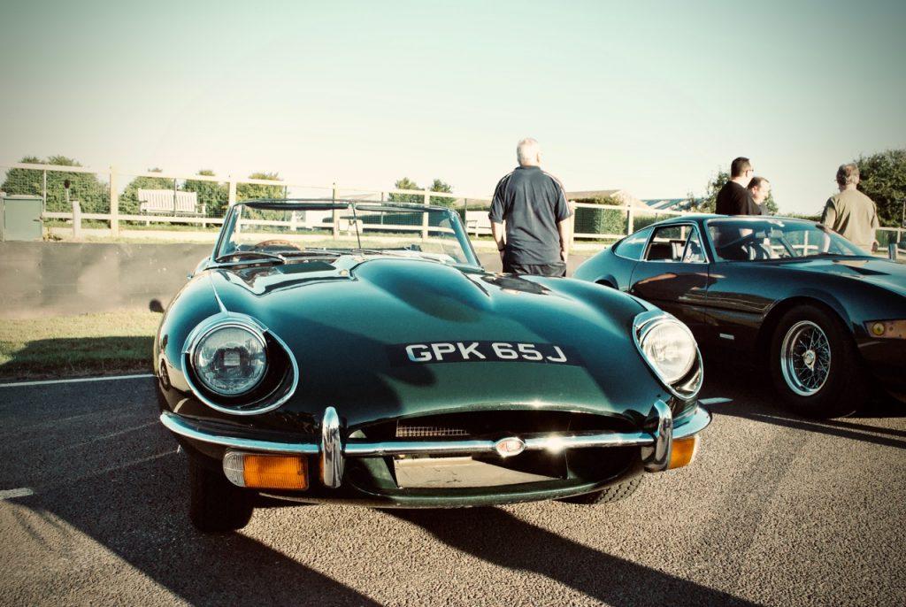 1970 Jaguar E Type at Goodwood circuit