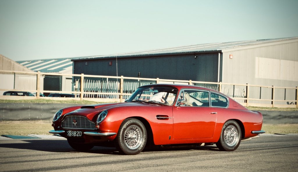 1966 Aston Martin DB6 Vantage at Goodwood race track
