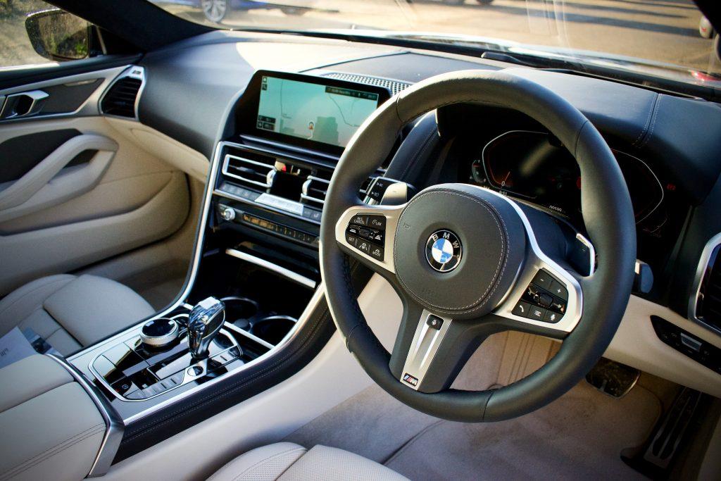 BMW 840i interior