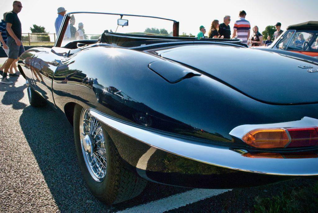 Jaguar E-Type rear at Goodwood