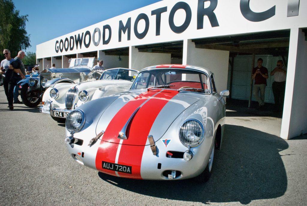 Porsche 356 on display at Goodwood Motor Circuit