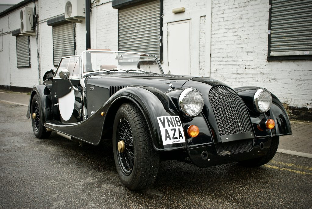 Morgan car 4/4 black